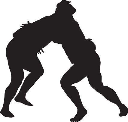 Sumo Wrestling Silhouette