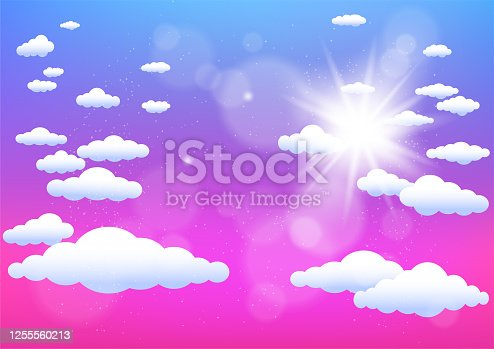 istock sun and clouds summer template 1255560213