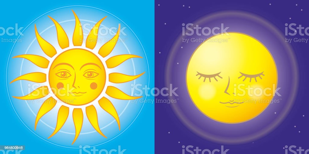 sun and moon - Fantasy  image royalty-free sun and moon fantasy image stock vector art & more images of ancient history