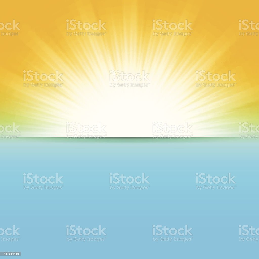 sun and sea, abstract vector illustration vector art illustration