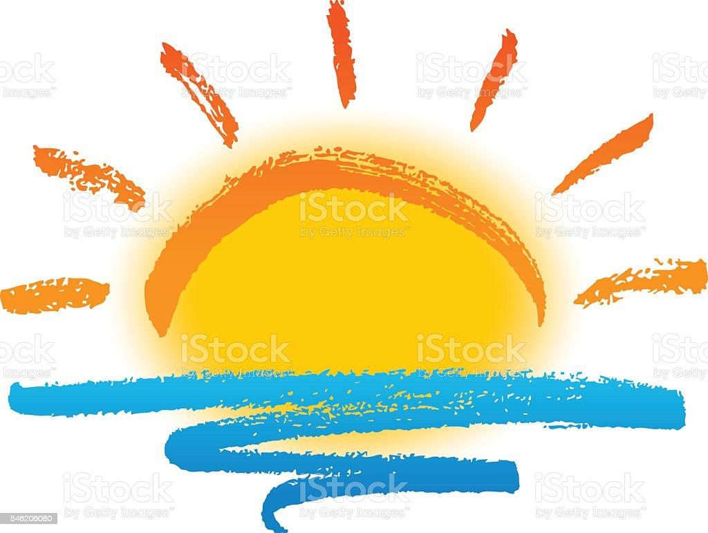 Sonne und Meer – Vektorgrafik