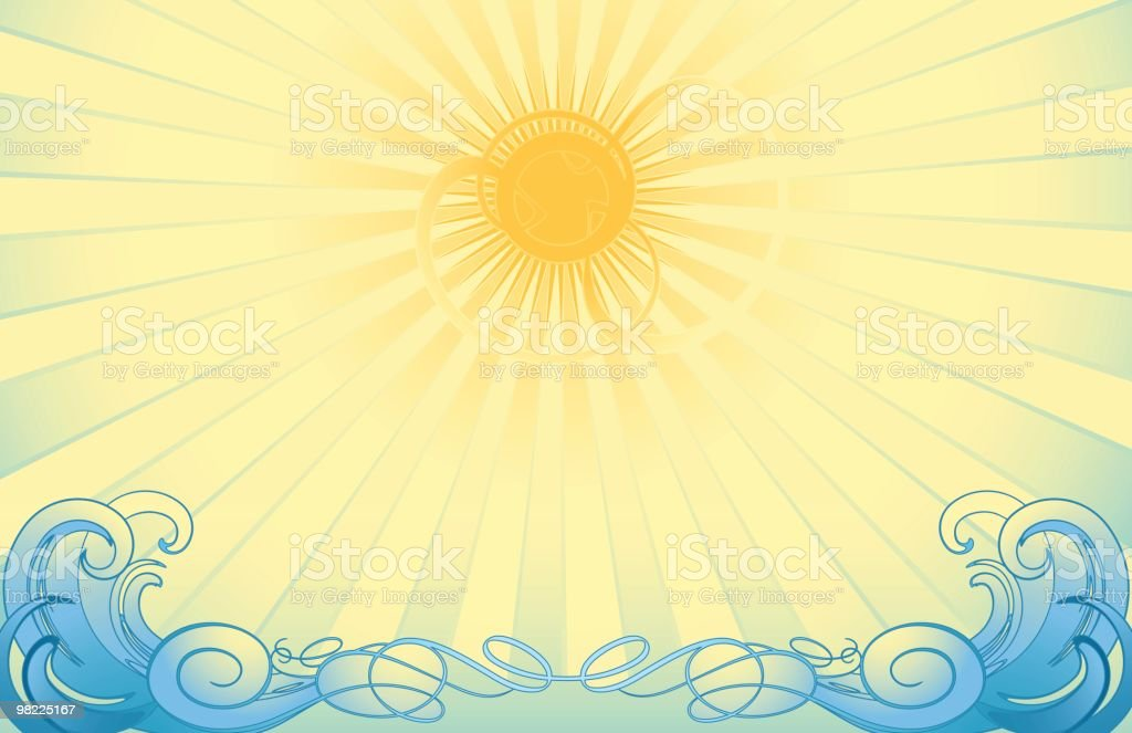 Sun and Surf royalty-free sun and surf stock vector art & more images of abstract