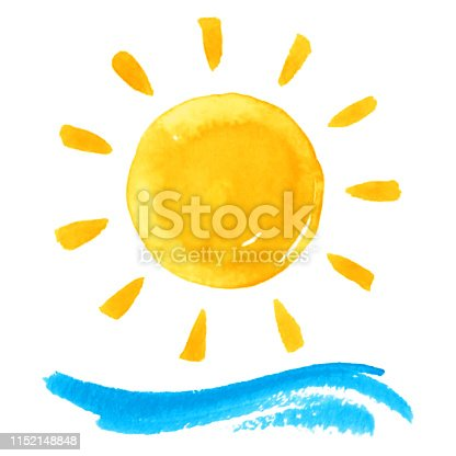 istock Sun and wave 1152148848