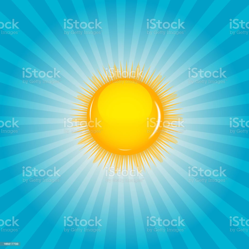 Sun  background vector illustration royalty-free stock vector art