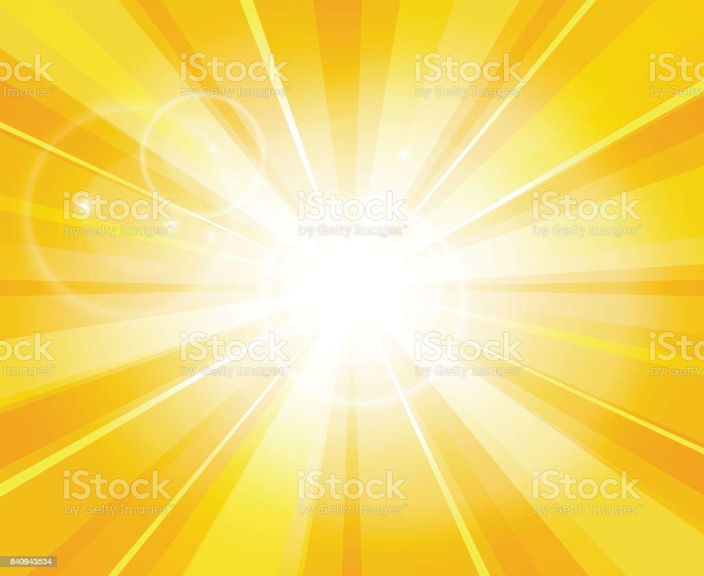 Sun beams pattern vector art illustration