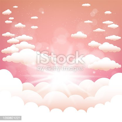 istock sun behind the clouds summer background 1253821221