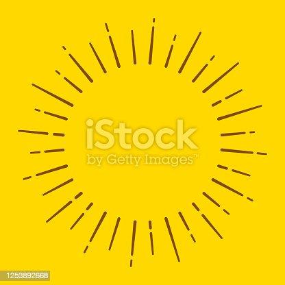 istock Sun Blast Circle Lines 1253892668