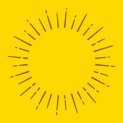 Sun Blast Circle Lines