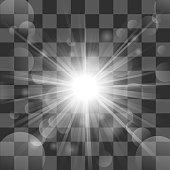 Sun burst on transparency background