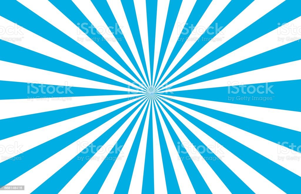 Sun bursts for background designs. vector art illustration
