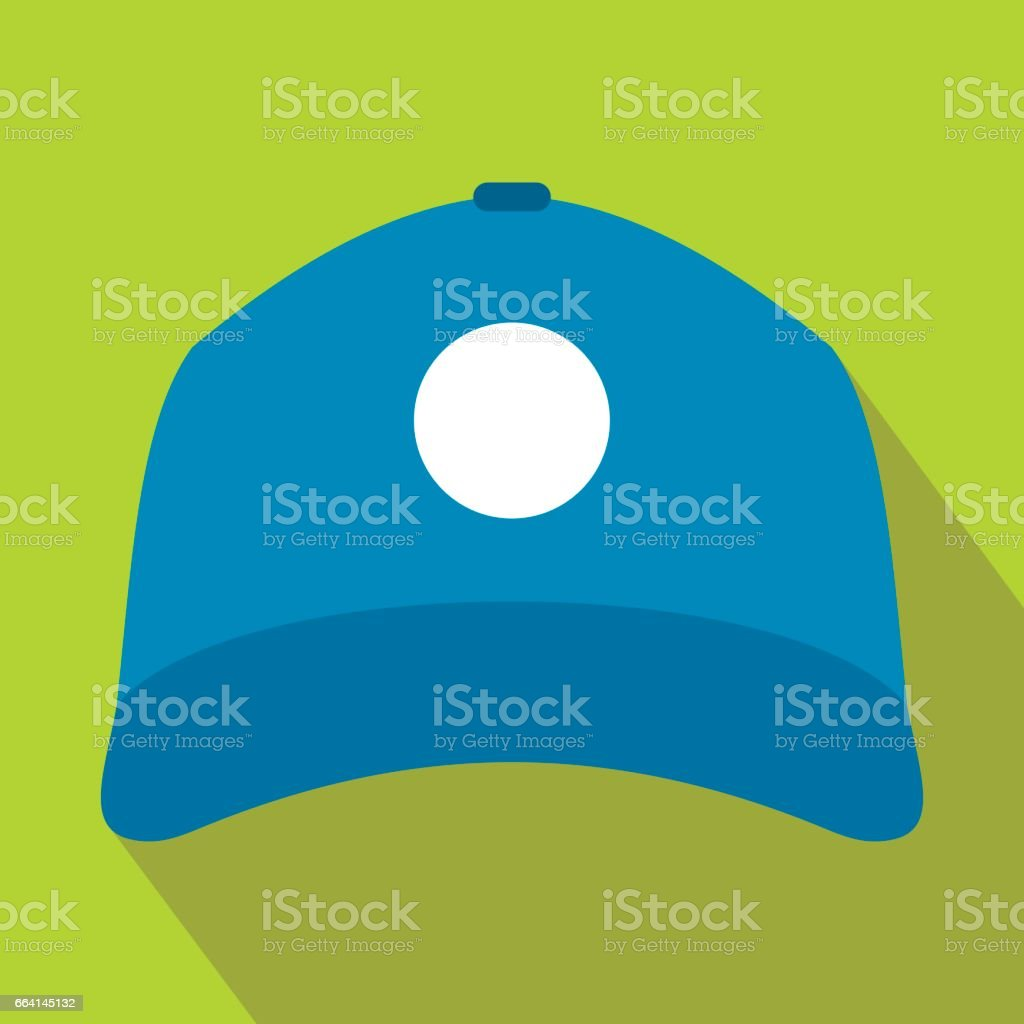 Sun cap icon in flat style vector art illustration