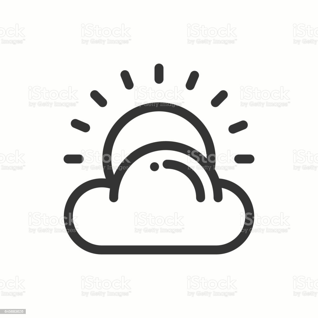 Sun cloud line simple icon weather symbols meteorology forecast sun cloud line simple icon weather symbols meteorology forecast design element buycottarizona Gallery