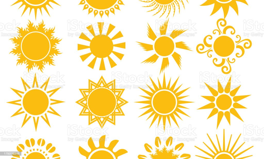 Sun collection royalty-free stock vector art