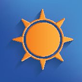 Sun design on blue background,vector