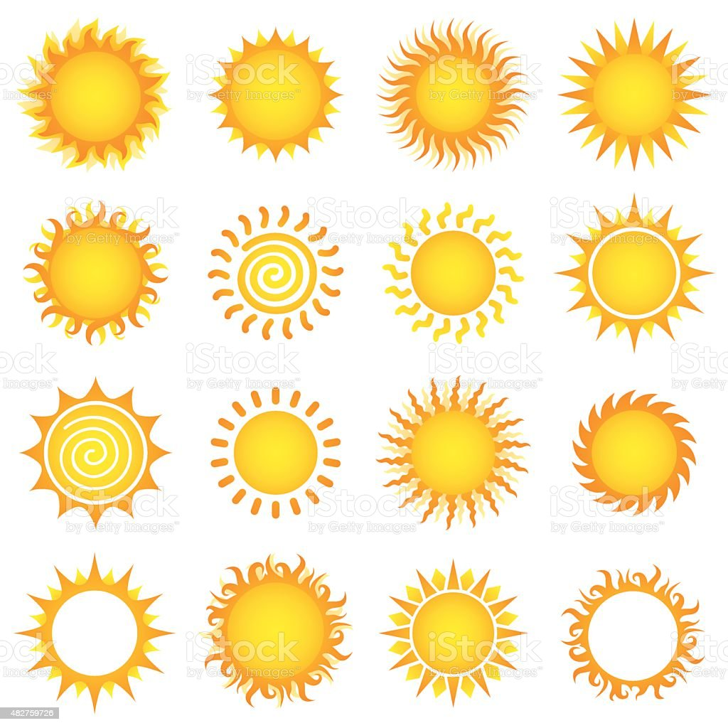 Sun Designs vector art illustration