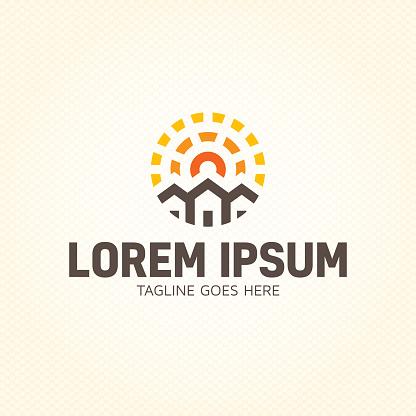 Sun Estate Logo Design Template