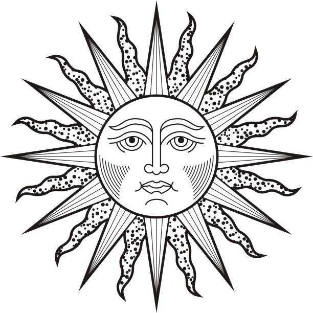 69 Cartoon Of The Sun Moon Stars Tattoo Designs Illustrations Royalty Free Vector Graphics Clip Art Istock