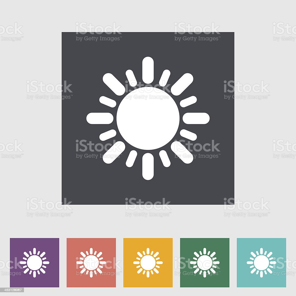 Sun flat icon royalty-free sun flat icon stock vector art & more images of abstract