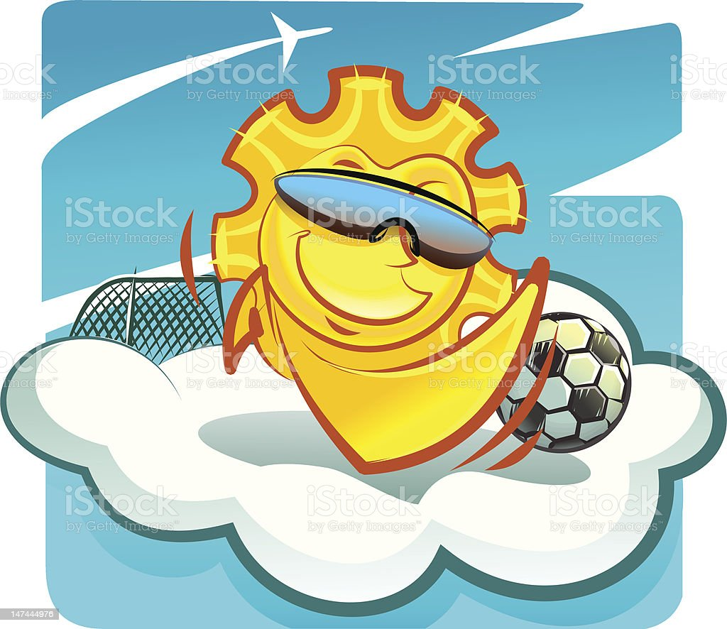 sun footballer royalty-free stock vector art
