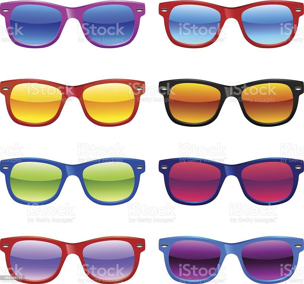 Sun glasses set vector art illustration