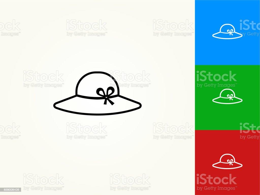 Line Art Of Sun : Sun hat black stroke linear icon stock vector art & more images of