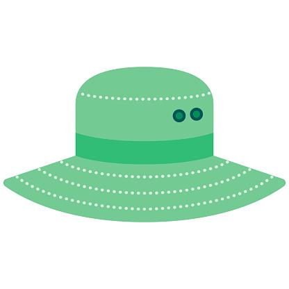 Sun Hat Icon on Transparent Background