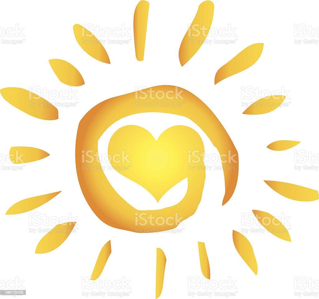 sun heart shape stock vector art more images of cartoon 166125455 rh istockphoto com Free Vector Feather Free Mountain Vector
