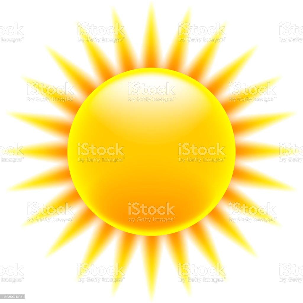 Sun icon isolated on white vector vector art illustration