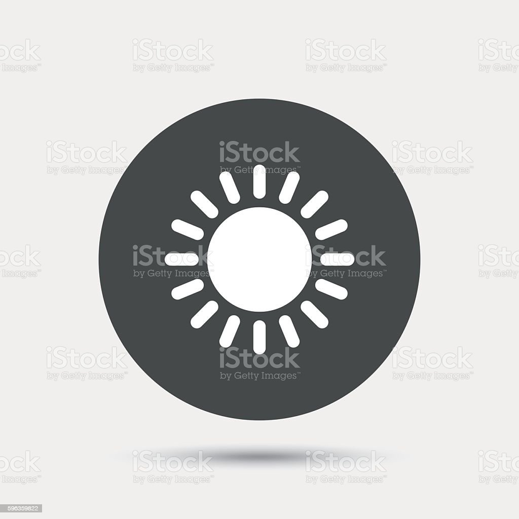 Sun icon. Sunlight summer symbol. royalty-free sun icon sunlight summer symbol stock vector art & more images of badge