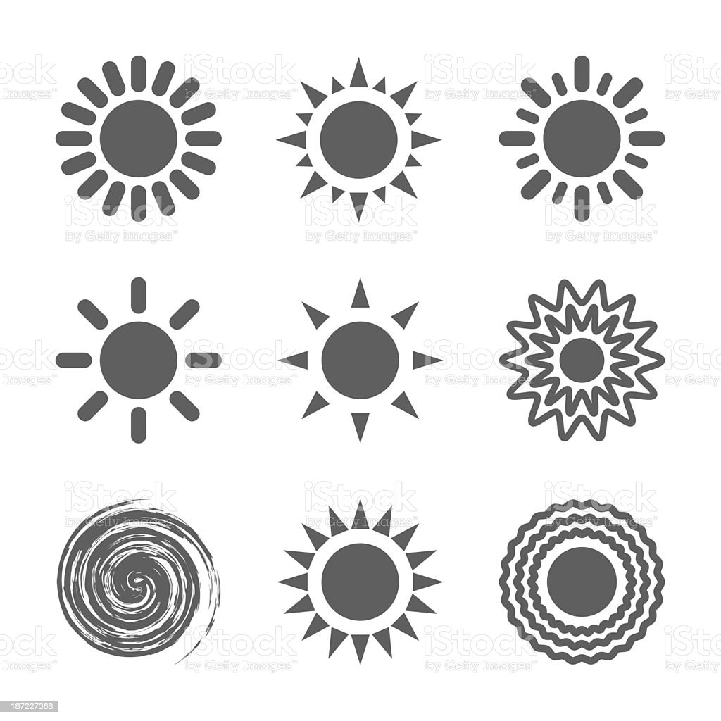 Sun icon royalty-free sun icon stock vector art & more images of abstract