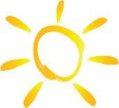 vector file of sun icon