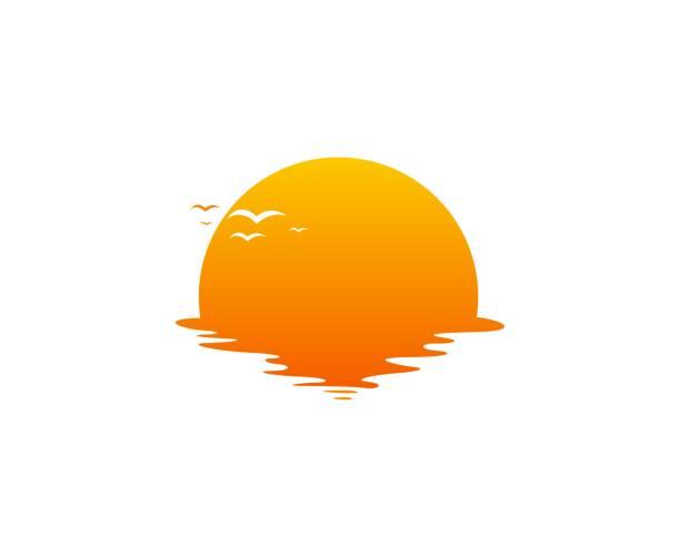 ikona sun - zachód słońca stock illustrations