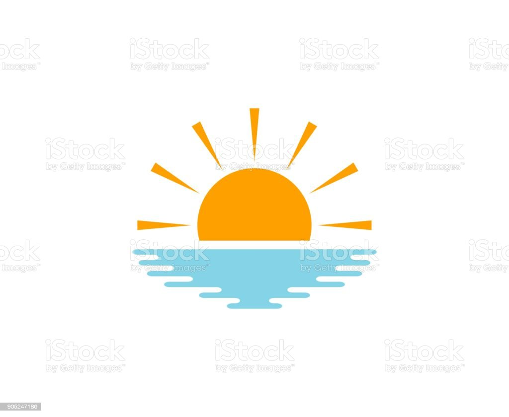 Sun icon vector art illustration