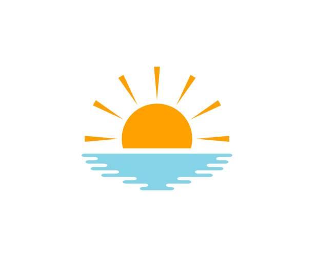 ilustrações de stock, clip art, desenhos animados e ícones de sun icon - sunset