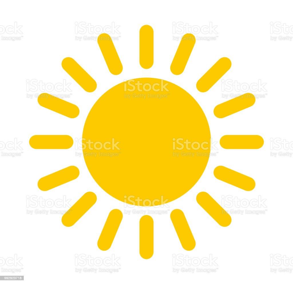 Ícone de sol - Vetor de Amarelo royalty-free