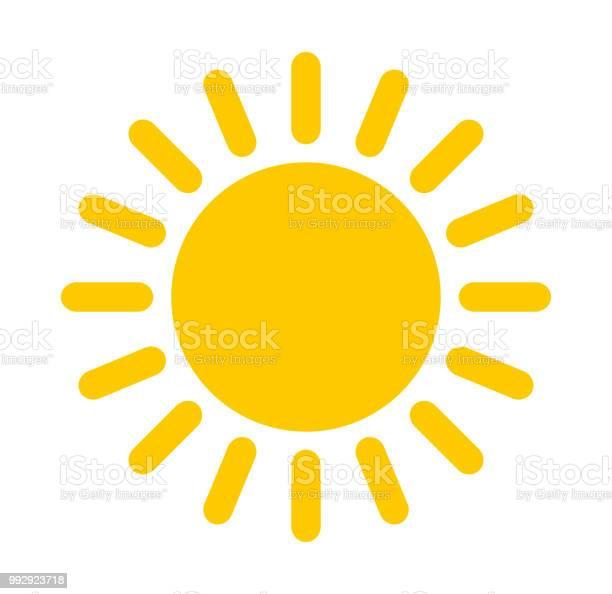 Vetores de Ícone De Sol e mais imagens de Amarelo