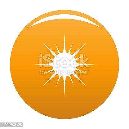 Sun icon. Simple illustration of sun vector icon for any design orange