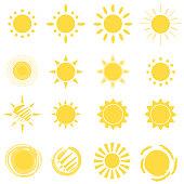 Sun Icon Vector Set
