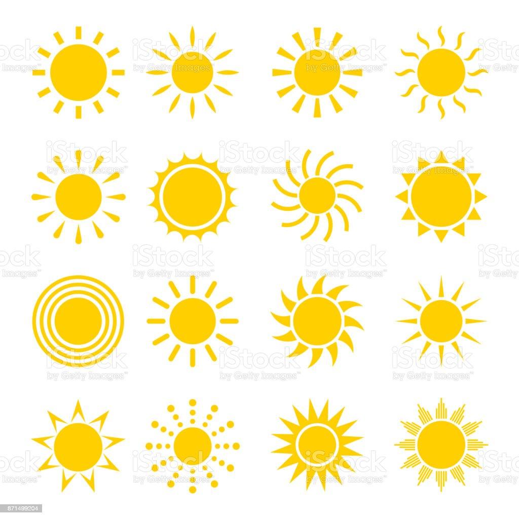 Pôr do sol ícone vector - Vetor de Amarelo royalty-free