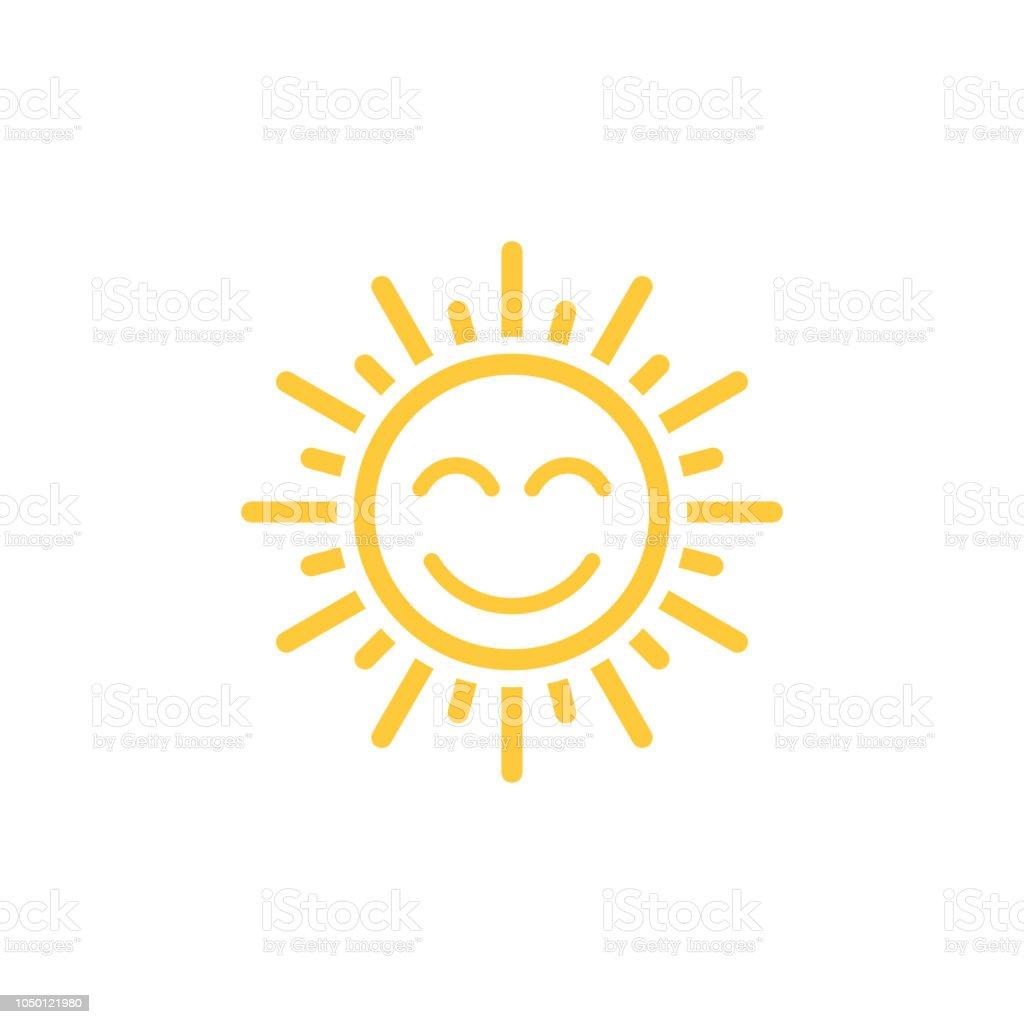Ícone de vetor de sol - Vetor de Abstrato royalty-free