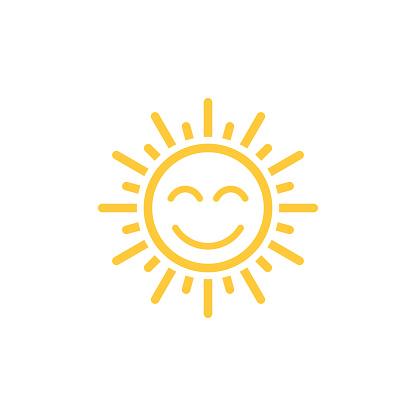 sun icon vector clipart