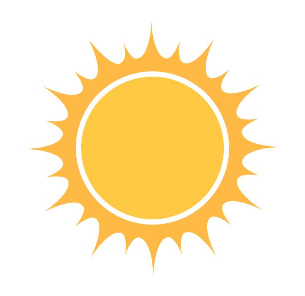 Sun icon vector vector art illustration