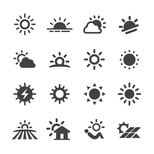 ilustrações de stock, clip art, desenhos animados e ícones de sun icons - acme series - sol