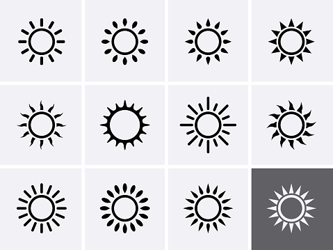 Sun Icons set