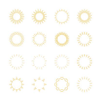 Sun icons,vector illustration. EPS 10.