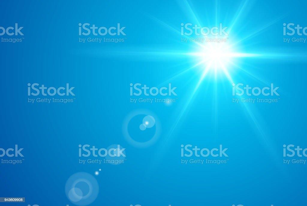 Sonne in der Mittagszeit – Vektorgrafik