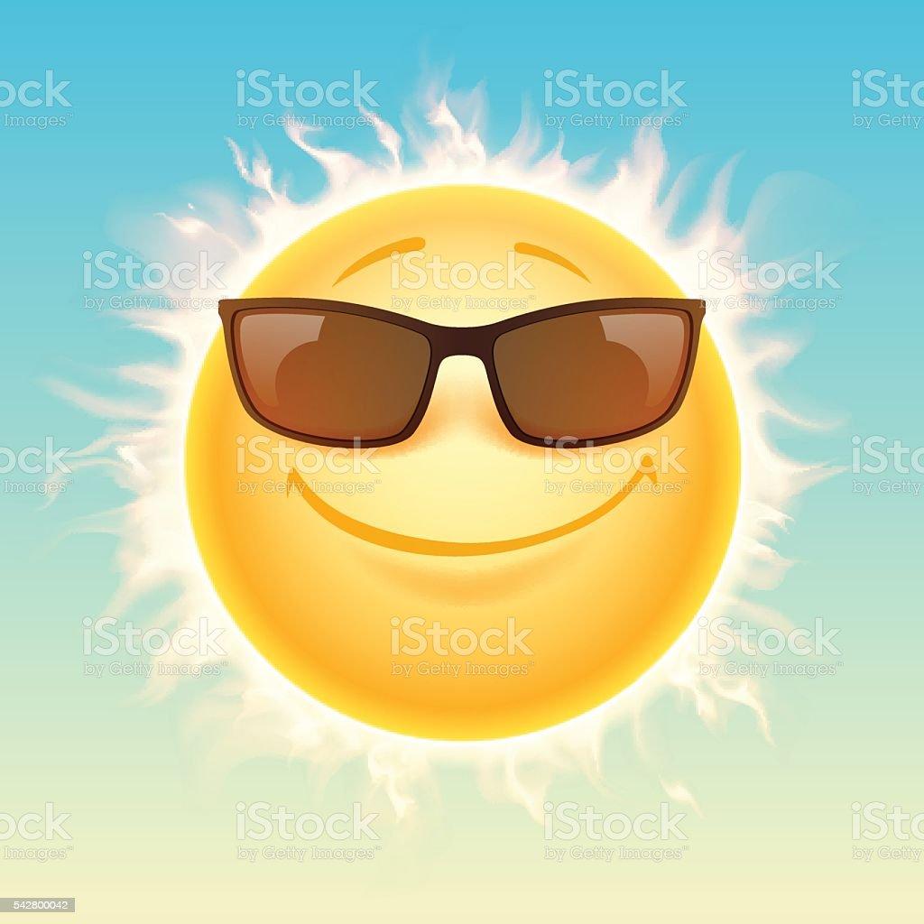 69e824eb1144 Солнце в Солнцезащитные очки иллюстрация Солнце в Солнцезащитные очки  иллюстрация — стоковая векторная графика и другие