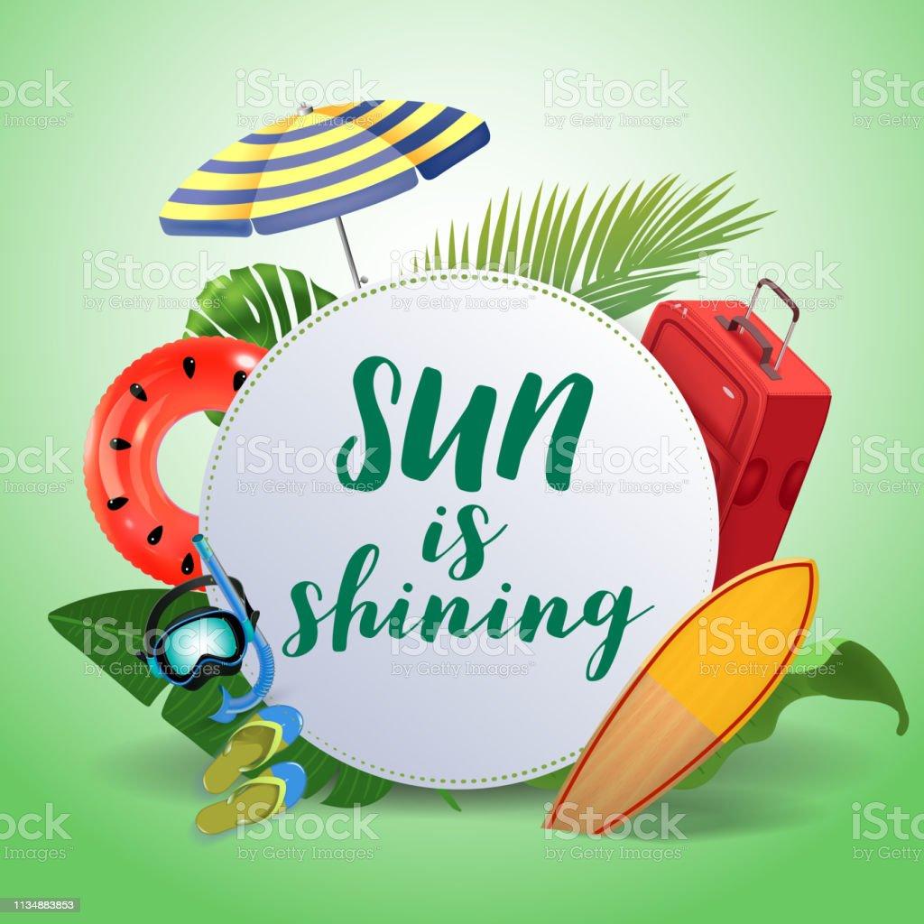 Le Soleil Brille Fond De Motivation De Citation De Source