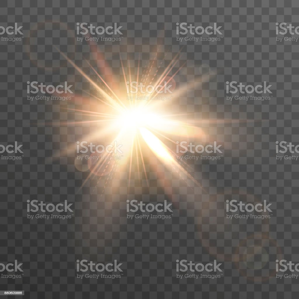 Sun. Lens flare.