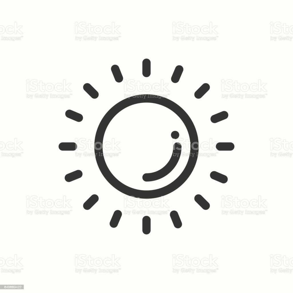 Sun line simple icon weather symbols meteorology forecast design sun line simple icon weather symbols meteorology forecast design element template for buycottarizona Gallery